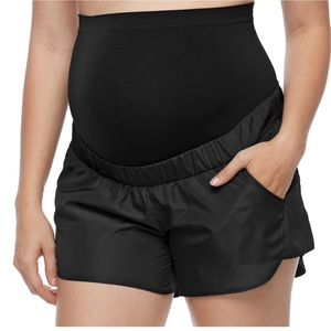 A:glow maternity active shorts w full belly panel
